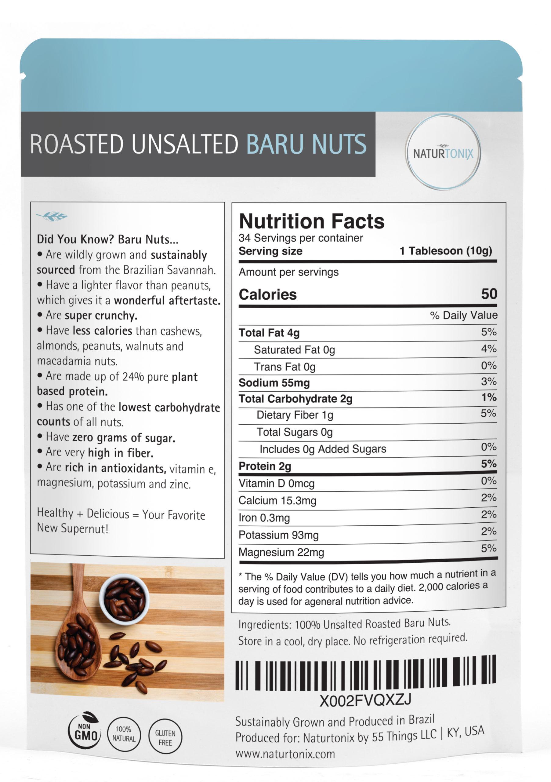 Naturtonix Baru Nuts Details