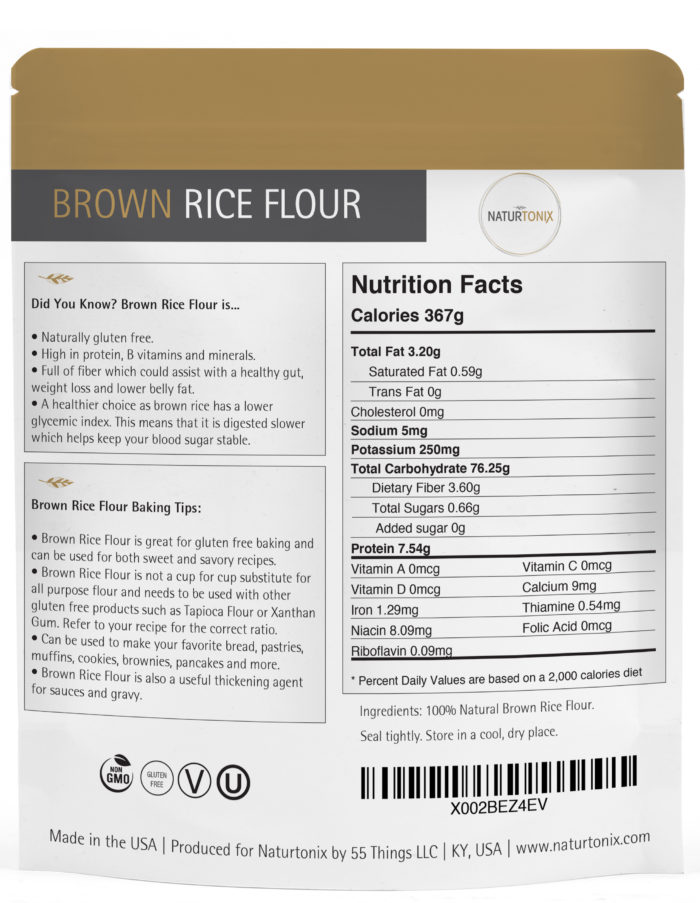 Naturtonix Brown Rice Flour Details