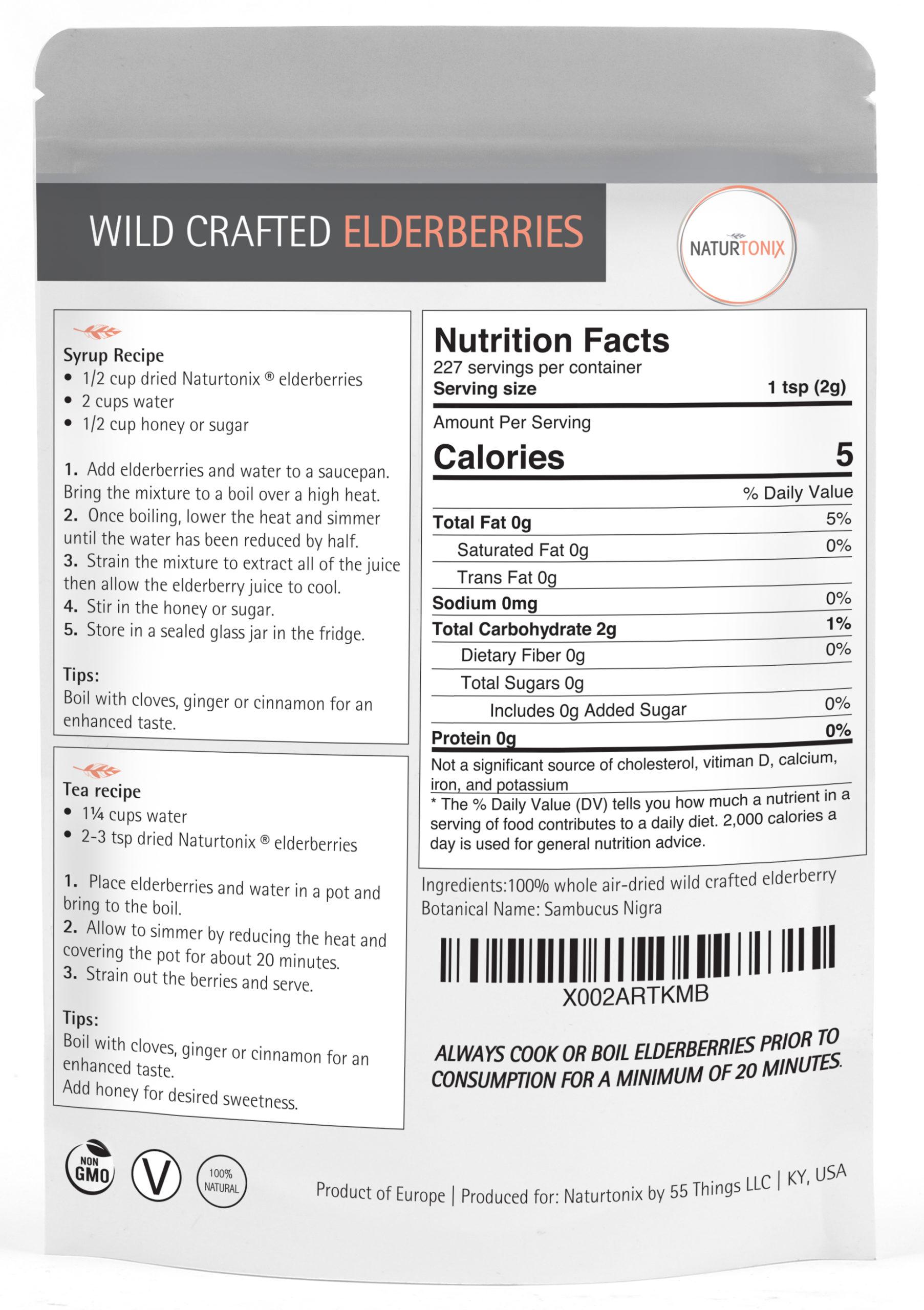 Naturtonix Wildcrafted Elderberries Details