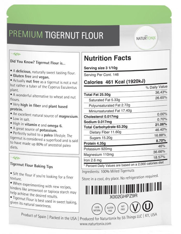 Naturtonix Tigernut Flour Details
